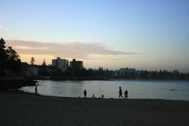 Sunset in Manly, as seen from Shelley Beach, Australia. © tuttysan 2012